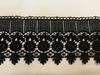 Кружево гипюр 1298-3 (черный) Цена за 9 метров