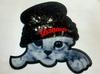 Аппликации кот в шапке AK488-3 (черный)