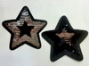 Аппликации звезды AK498-3-42 (черный с серебром)