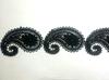 Кружево гипюр 1716-6-3 (черный) Цена за 9 метров
