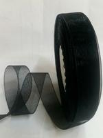 Лента органза LO2-3 (черный)