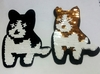 Аппликации собака AK362-1-41 (черный белый золото)