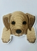 Аппликации собака AK515-25 (светло бежевый)
