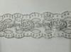 Кружево на сетке  WX164-42-1 (серебро)