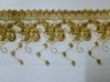 Кружево на сетке  15221-41 (золото)
