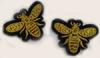 Аппликации насекомые AK391-41 (золото) Цена за 6 шт