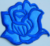 Аппликации цветок 2035-16 (голубой) Цена за 2шт.