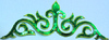 Аппликация вензель 8580-18 (зеленый) Цена за 20шт.