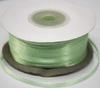 Лента атласная AL03-20 (светло зеленый) Цена за 100ярд.