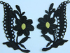 Аппликация цветок AP015-3 (черный) Цена за 10 пар.