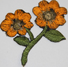 Аппликации цветок AP042-31 (оранжевый) Цена за 10 шт.