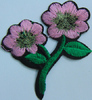 Аппликации цветок AP042-34 (розовый) Цена за 10 шт.