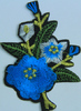 Аппликация цветок AP07-16-1 (голубой) Цена за 10шт.