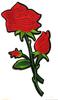 Аппликации цветы AK1-27/14-4 (красный) Цена за 2 шт