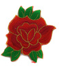 Аппликации цветы 6051-4 (красный) Цена за 20 шт