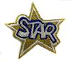 Аппликации звезда STAR AK19-41 (золото)
