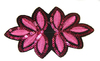 Аппликации цветок APP1-37 (темно розовый) Цена за 20 шт