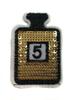Аппликации духи AK128-41 (золото) Цена за 2 шт