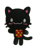 Аппликации кошка AK153-3 (черный) Цена за 4 шт