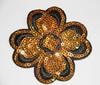 Аппликации цветок AP-27 (коричневый) Цена за 5 шт