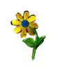 Аппликации цветок AP040-7 (желтый) Цена за 10 шт