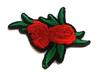 Аппликации цветы AK160-4 (красный) Цена за 6 шт