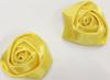 Розочки из атласной ленты КЦ271-7 (желтый) Цена за 10 шт