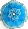 Цветы пришивные КЦ316-51 (бирюза) Цена за 10 шт