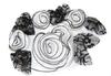 Пришивные элементы из ткани 1318-1-3 (черно-белый)