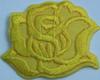 Аппликации цветок KA9-7 (желтый) Цена за 10 шт.