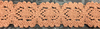 Кружево лен 8046-27 (коричневый) Цена за 10 метров