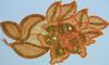 Аппликация цветок KT-31 (оранжевый) Цена за 2шт.