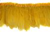 Перо курицы на ленте PPZL15-7 (желтый) Цена за 2 метра