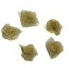 Розочка органза КЦ1-8 (светло желтый) Цена за 50 шт
