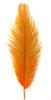 Перо страуса PRK25-30-32 (ярко оранжевый) Цена за 5 шт
