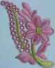Аппликация цветок ZV25-34 (розовый) Цена за 10шт.
