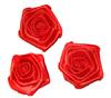Розочки из атласа КЦ323-4 (красный) Цена за 10 шт