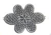 Цветы пришивные APP01-52 (серый) Цена за 10 шт
