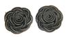 Цветы пришивные NF100H30-63 (болотный) Цена за 10 шт