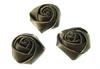 Розочки из атласной ленты КЦ271-30 (шоколадный) Цена за 10 шт