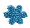 Цветы пришивные APP02-16 (голубой) Цена за 20 шт