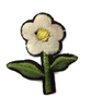 Аппликации цветок AP039-1 (белый) Цена за 10 шт