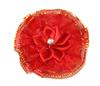 Цветы пришивные КЦ316-4 (красный) Цена за 10 шт