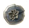 Цветы пришивные КЦ316-52 (серый) Цена за 10 шт