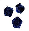 Розочки из атласа КЦ323-12 (темно синий)