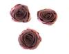 Розочки из атласа КЦ323-36 (грязно розовый) Цена за 10 шт
