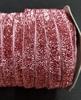 Бархатная лента голографическая BHLG14-37 (темно розовый)