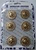 Кнопки декоративные KPDM25-41 (золото)