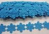 Кружево гипюр ромашка ROM269-16 (голубой) Цена за 7,5 ярд (6,8 м)