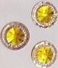 Стразы пришивные SPKK01-15mm (желтый) Цена за 30 шт